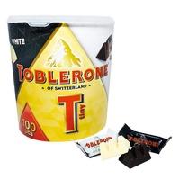 BLANC_COSTCO 好市多 瑞士三角巧克力 白巧克力+黑巧克力 綜合桶 800公克/桶