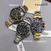 MK鋼帶手錶 Michael Kors MK8256 MK8267 MK8311 石英男錶 大錶盤三眼錶 多功能錶金銀藍