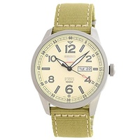 (Seiko) Seiko 5 SRP635 Sport Men s Automatic with Hand Winding and Beige Dial-Seiko 5