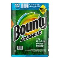 [#巧] Costco好市多代購 Bounty 隨意撕特級廚房紙巾 110張 X 12捲