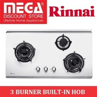 RINNAI RB-93US 3 BURNER BUILT-IN STAINLESS STEEL HOB / LOCAL WARRANTY