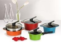 【HAPPYCALL】Alumite Ceramic Pots 4 pieces kitchen cook tool
