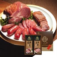 【野味食品】黑橋牌黑豬秘饌雙響禮盒E(黑豬梅花燒肉+黑豬岩燒肉乾)(附贈禮盒禮袋)(桃園出貨)