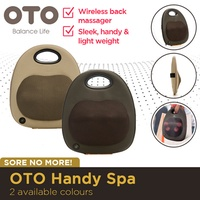 OTO Handy Spa Wireless back massager. Soothing heat therapy/Lightweight. Massage your back on the go