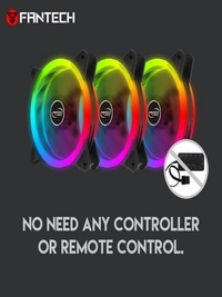 FANTECH FC-124 PC Desktop Tower Computer Fan Case Cooling Fan Unit Colorful LED