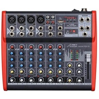 Audio2000S AMX7313 Professional Eight-Channel Audio Mixer with USB and DSP Processor
