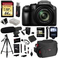 Panasonic FZ80 Lumix Camera, Transcend 64GB Memory Card, Polaroid Professional Microphone, Polaroid Tripod, Flash, Camera Bag, and Accessory Bundle - intl