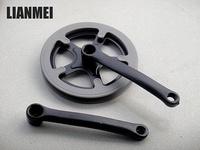 『聯美自行車』(D2)  40T大盤  鐵曲柄曲腿 170mm 雙護鏈蓋 單速 / 變速可使用