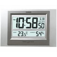 Casio Alarm Clock ID-16S-8D Thermometer Hygrometer Digital Calender Clock