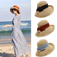 Women straw hat Anti-UV Foldable Summer hat