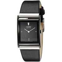 Citizen Men's Eco-Drive Black Leather Watch