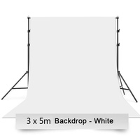 Photo Video Studio 2.8 x 3m Heavy Duty Background Stand Backdrop Support System Kit with Carry Bag for Photography
