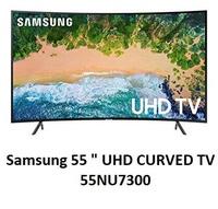 "Samsung TV 55"" UHD 4K Curved Smart TV 55NU7300"
