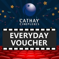 [Cathay Cineplexes] EVERYDAY Movie Voucher/1* Qty/Gift Voucher/E-Voucher/Movie Voucher/Movie Ticket Voucher/Movie Deal/Cinema/Movie Ticket Discount (Email Delivery)
