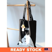 [READY STOCK] MINISO We Bare Bears Tote Bag Canvas Shoulder Bag
