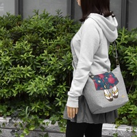 Japan mis zapatos Slippers and Skirt Pattern Ladies Messenger Bag Small