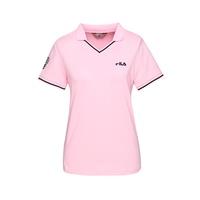 FILA 女款短袖POLO衫-粉色 5POT-1458-PK