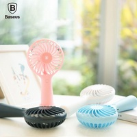 Baseus Portable Handheld 3-Speed Mini USB Rechargeable Quiet Fan 1500mAh Powerbank Battery