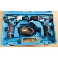 ●沙莎五金●英得麗12V鋰電充電式TD-128衝擊起子機+TD-108D雙速電鑽雙機組與TD90電池通用