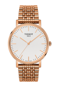 TISSOT 天梭 T1094103303100 Everytime 經典雋永手錶 玫瑰金 38mm