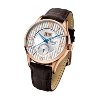 Arbutus AR915RWF Anolog Automatic Brown Leather Men Watch