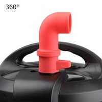360 Degree Rotation Silicone Steam Release Pipe for Instant Pot
