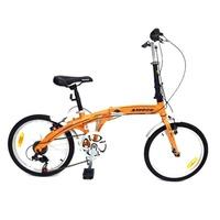 ALEOCA จักรยานพับได้ Alloy รุ่น Specifiche ล้อ 20 นิ้ว, 6 Speed (สีส้ม)