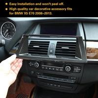Carbon Fiber Style Interior Centre Console GPS Navigation Frame Cover Trim for BMW X5 E70 08-13
