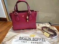 Braun Buffel leather tote bag
