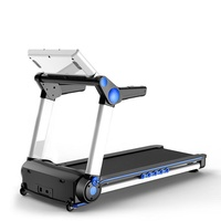 Treadmill K5 Foldable Motorized Incline Treadmill Singapore (Blue LCD Screen)
