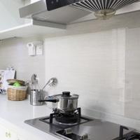 Kitchen Transparent Oil Resistant Adhesive Paper Household HIGH-TEMPERATURE Resistant bo li tie Tiles Waterproof Oil Resistant Range Hood Cabinet Wall Stickers