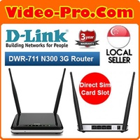 D-Link DWR-711 Wireless N300 3G Router Direct Sim Card Slot