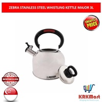 ZEBRA STAINLESS STEEL WHISTLING KETTLE MAJOR 3L