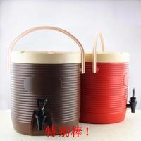 特别棒!!豆漿大容量13L冷熱桶提手帶商用果汁桶保溫奶茶龍頭飲料桶開