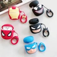 漫威正版蘋果藍牙airpods保護套殼AirPods2耳機套卡通蜘蛛人適用