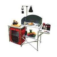TNR擋風式戶外行動廚房組合料理桌灶台附燈桿架收納提袋 蝦皮24h 現貨