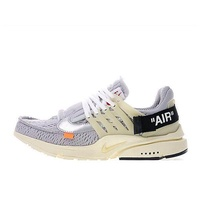 Off-White x Nike Air Presto Ow Virgil Abloh Men's Running Shoes Breathable Sports Sneakers (Grey)