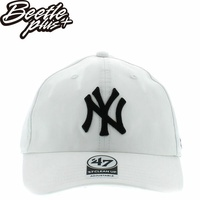 BEETLE 47 BRAND 老帽 紐約 洋基 NEW YORK YANKEES DAD HAT 大聯盟 MLB 白黒 MN-433