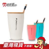 [送杯蓋湯匙]全新304不鏽鋼陶瓷杯組 陶瓷塗層 雙層咖啡杯 牛奶杯 野餐杯子 辦公室保溫杯 喝水杯