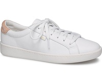 Keds Ace Leather Women's Sneakers White Coral (WH58548)