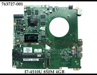 Original Brand New DAY31AMB6C0 for HP Envy 17-K Laptop Motherboard 763727-001 SR1EB I7-4510U GTX850M 4GB Fully Tested (Version: Used)