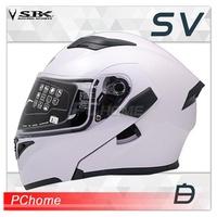 SBK SV 白 全罩 安全帽 可樂帽 汽水帽 雙D扣 內襯可拆 內置鏡片