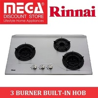 RINNAI RB-3SI 3 BURNER BUILT-IN STAINLESS STEEL HOB / LOCAL WARRANTY