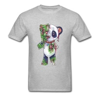 Horror Zombie Panda Ghoul T-Shirt Devil May Cry Bearcat Awesome Tshirts Ostern The Walking Dead Funny T Shirt Anime Print 3D Men grey