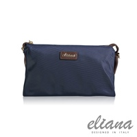 eliana - Gina系列輕量兩用手拿包 - 魅力藍