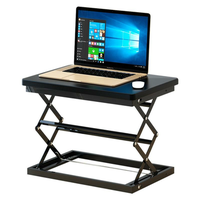 W50 Sit Stand Foldable Laptop Desk Adjustable Height Desk Foldable Office Desk Simple Modern Desk Stand 4-Position Height Adjustment