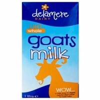 Delamere Dairy Whole UHT Goats Milk 33oz (1L)