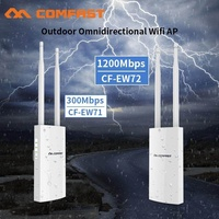 Outdoor High Power Weatherproof Wifi Extender/Access Point/Router 2.4GHz/5GHz 1200Mbps Base AP Dual 5dBi Antenna WIFI Extend AP