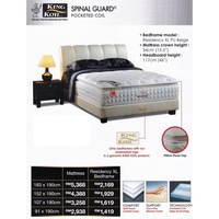 King Koil Spinal Guard 13.5 inch Pocketed Coil Spring Mattress With 10 Years Warranty (Pre-Order 2 Weeks)
