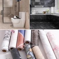 防滑地貼防水耐磨仿大理石紋衛生間浴室自粘墻紙廚房地板翻新貼紙